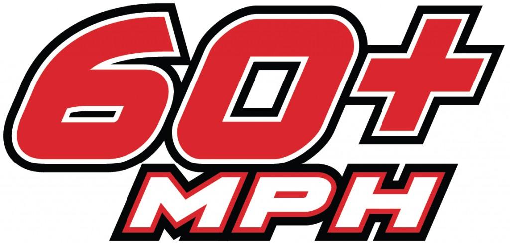 60+mph Logo